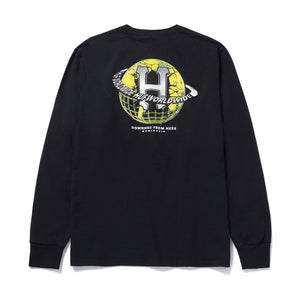 HUF Giga Melted Long Sleeve T-Shirt Black