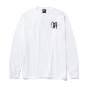 HUF Giga Melted Long Sleeve T-Shirt White