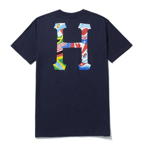 HUF Global Trip Classic H T-Shirt French Navy