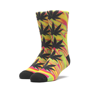 HUF Good Trip Plantlife Sock Mens Sock Blazing Yellow