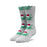 HUF Green Buddy Santa Sock Mens Sock Grey Heather