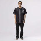 Load image into Gallery viewer, Huf Harlem Baseball Jersey Black