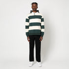 Load image into Gallery viewer, HUF Hayes Rugby Shirt Mens LS Polo Sycamore