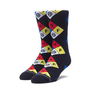 HUF Hazard Sock Black