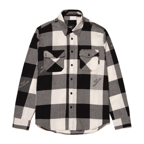 HUF Heights Long Sleeve Flannel Black