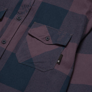 HUF Heights Long Sleeve Flannel Vintage Violet