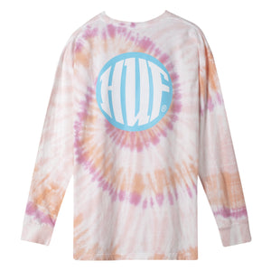 HUF High Definition Long Sleeve T-Shirt Mens LS Tee Coral Pink