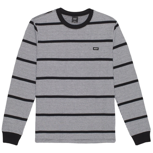 HUF Houndstooth Stripe Long Sleeve Knit Black