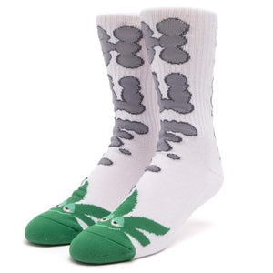 Huf N Puff Buddy Sock White