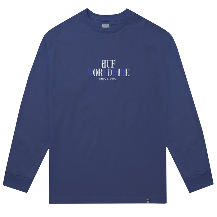 HUF Or Die Long Sleeve T Shirt Mens Insignia Blue