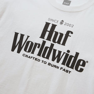 HUF HUF Worldwide Short Sleeve T-Shirt Womens Printed Tee White