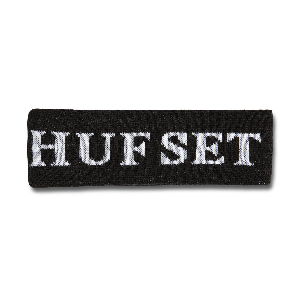 HUF Hufset Headband Black