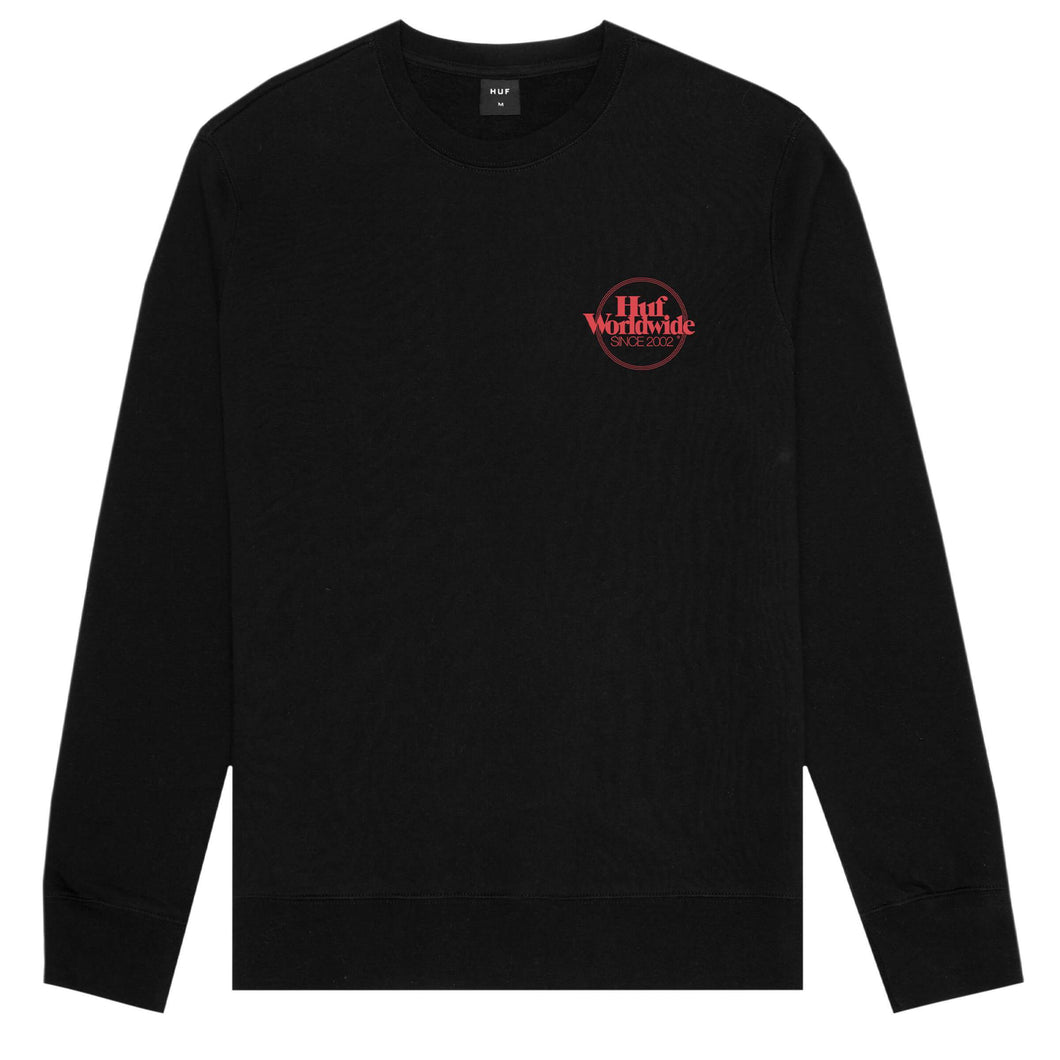 HUF Issue Logo Crew Black