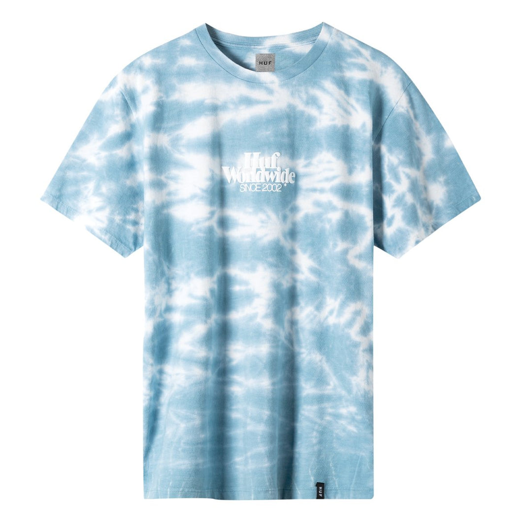 HUF Issue Logo Resort Wash T-Shirt Blue