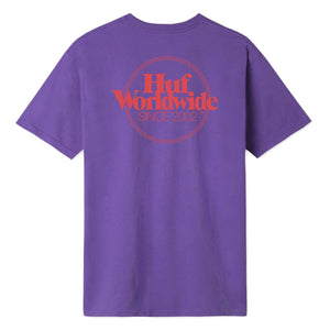 HUF Issue Logo Short Sleeve Pocket Tee Ultra Violet