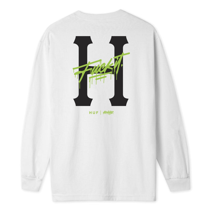 HUF itsaliving Classic H Long Sleeve T-Shirt Mens LS Tee White