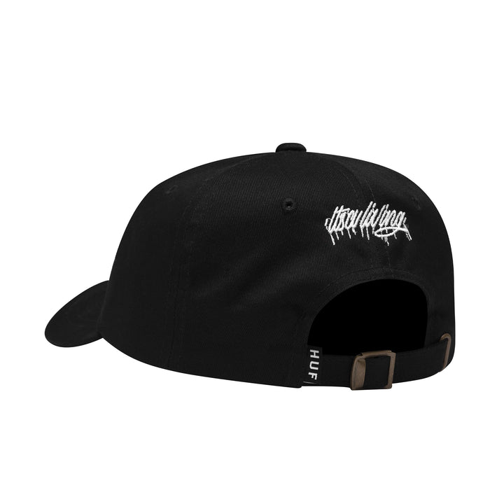 HUF itsaliving HUF Curved Visor Hat Mens Cap Black