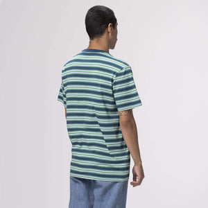 Huf Jett Stripe Short Sleeve Knit Top Digital Teal