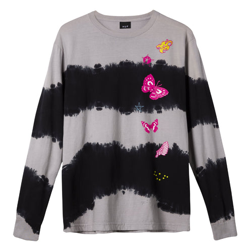 HUF Kei Girls Wash Long Sleeve T-Shirt Black