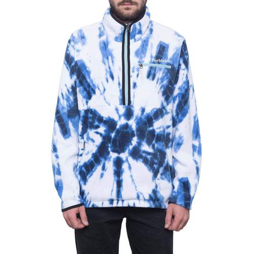 HUF Kumo Reversible 1/4 Zip Jacket Cloud Blue