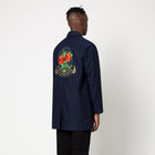 Load image into Gallery viewer, HUF LA Haine Trench Coat Navy Blazer