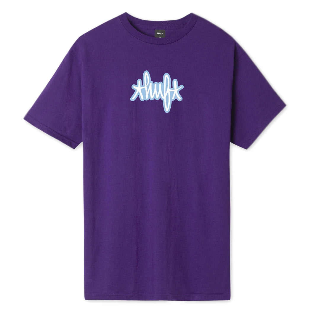 HUF Landmark Logo T-Shirt Purple