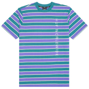 HUF Lexington Short Sleeve Knit Top Blue Iris