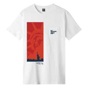 HUF Liberty Pocket T-Shirt Mens Printed Tee White
