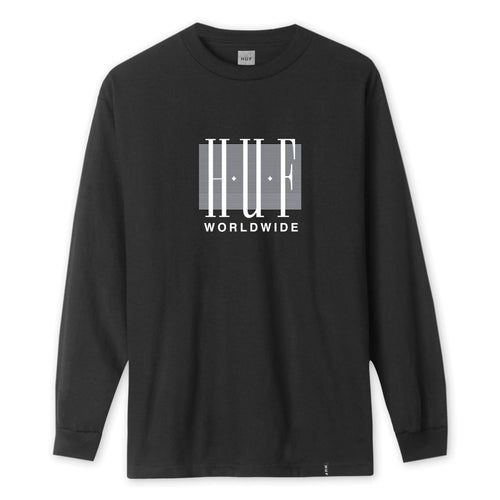 HUF Linear Long Sleeve T-Shirt Black