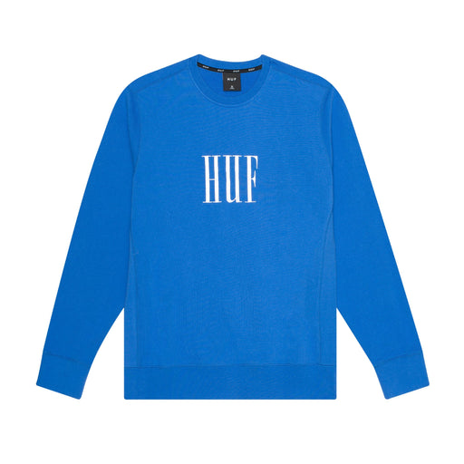 HUF BAR LOGO CREW MENS SWEATER QUETZAL GREEN