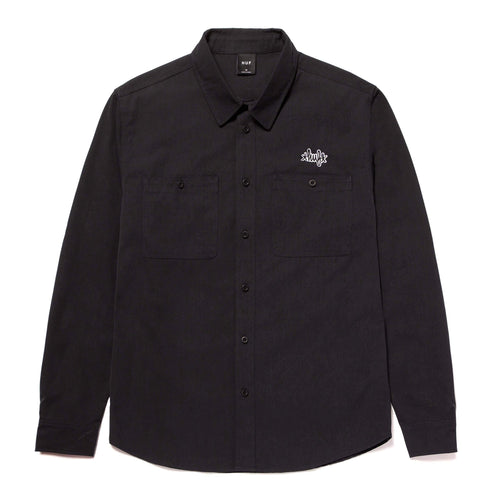 Huf Mechanical Longsleeve Shirt Black