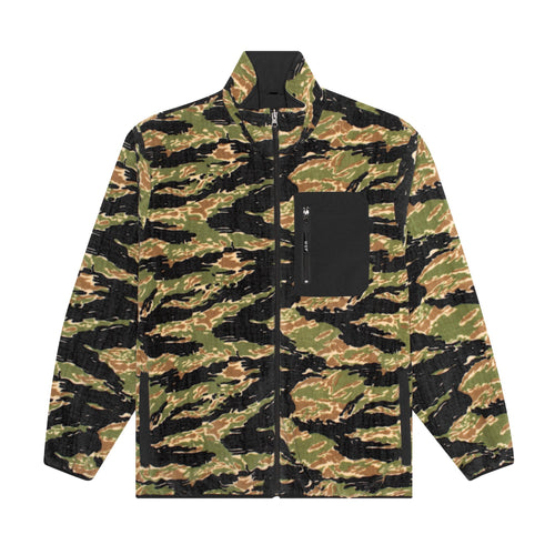 HUF Milton Rev Polar Fleece Jacket Mens Jacket Tiger & Camo