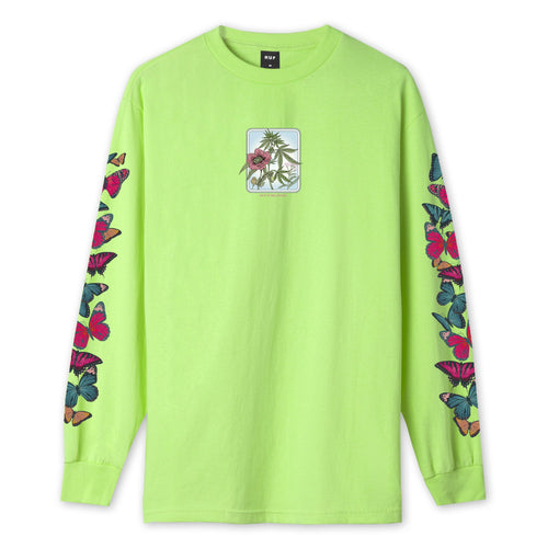 HUF Monarch Long Sleeve T-Shirt Bio Lime