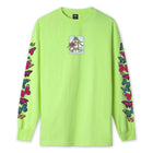 Load image into Gallery viewer, HUF Monarch Long Sleeve T-Shirt Bio Lime