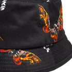 Load image into Gallery viewer, HUF MOTHRA BUCKET HAT Black