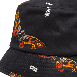 HUF MOTHRA BUCKET HAT Black