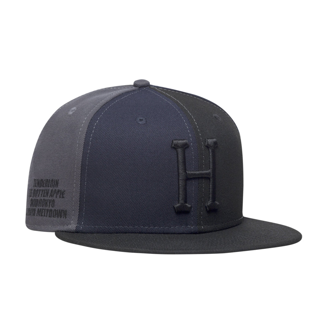 HUF Multi Classic H New Era Cap Mens Cap Black