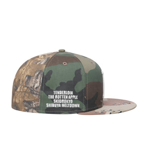 HUF Multi Classic H New Era Cap Mens Cap Woodland Camo