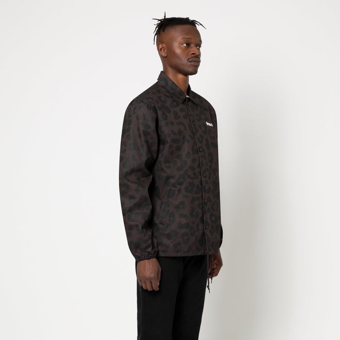 HUF Neo Leopard Coach Jacket Mens Jacket Black