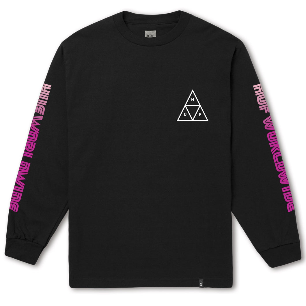 HUF Neo TT Long Sleeve T-Shirt Black