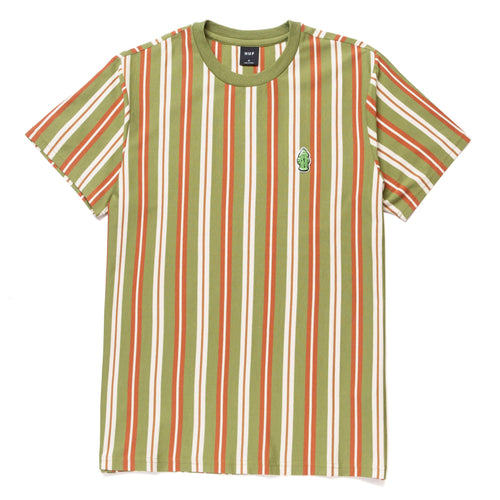 Huf Nikola Short Sleeve Knit Top Olive
