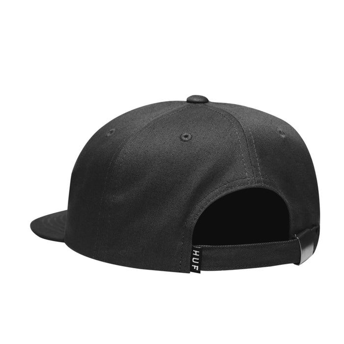 HUF Pch Logo 6 Panel Hat Mens Cap Black