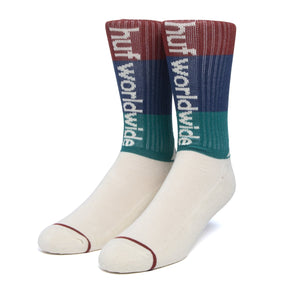 HUF Peak Stripe Sock Unbleached