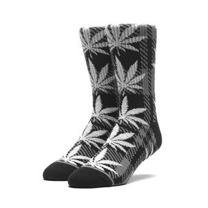HUF Plaid Plantlife Sock Mens Sock Black