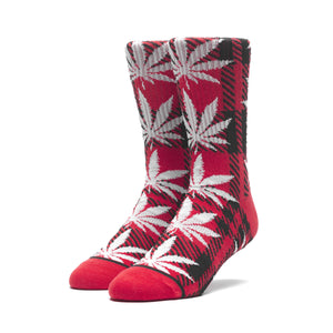 HUF Plaid Plantlife Sock Mens Sock Poppy