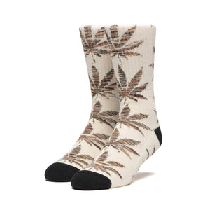 Huf Plantlife Melange Leaves Sock Unbleached