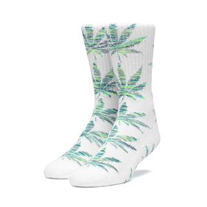 Huf Plantlife Melange Leaves Sock White