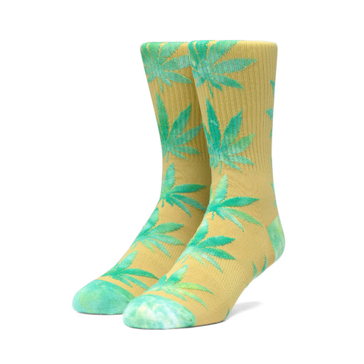 HUF Plantlife Tiedye Leaves Sock Golden Spice
