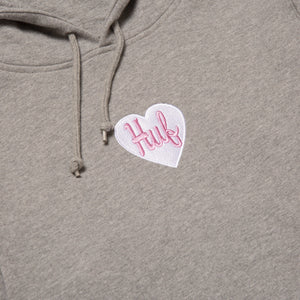 HUF Plastic Heart Pullover Hoodie Grey Heather