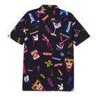 Load image into Gallery viewer, Playboy Collage Short Sleeve Woven Shirt Black